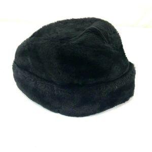 Accessories - Vintage faux fur hat sz Large black
